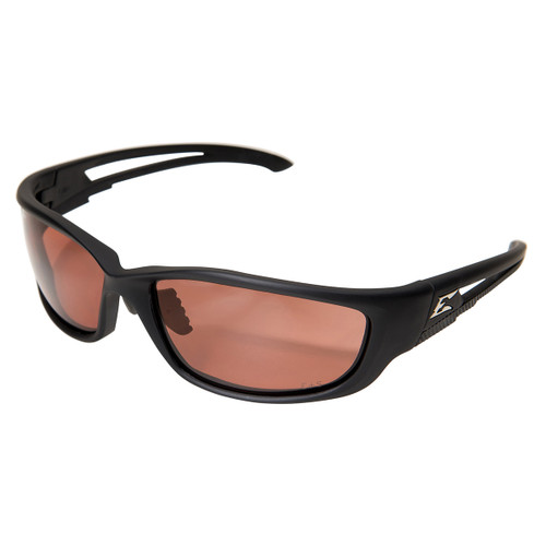 Edge Kazbek XL Safety Glasses with Black Frame - Polarized Copper Lens