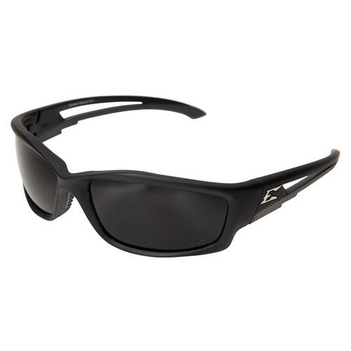 Edge Kazbek Safety Glasses with Black Frame - Polarized Smoke Lens
