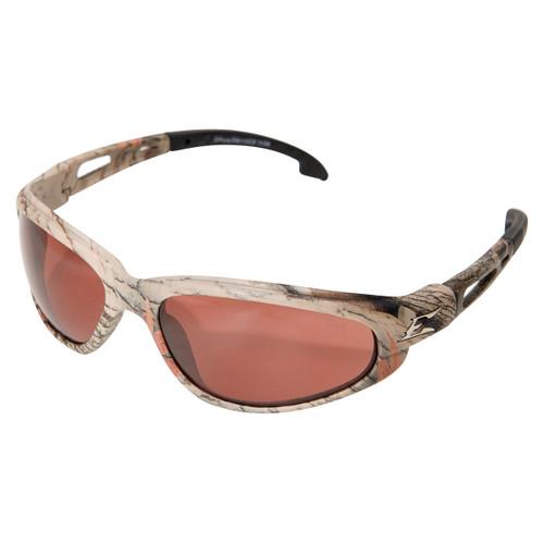 Edge Dakura Safety Glasses with Camo Frame - Polarized Copper Lens