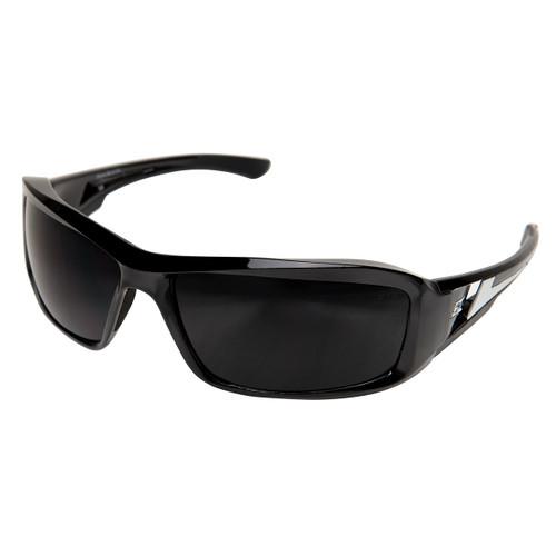 Edge Brazeau Safety Glasses with Black Frame - Smoke Lens