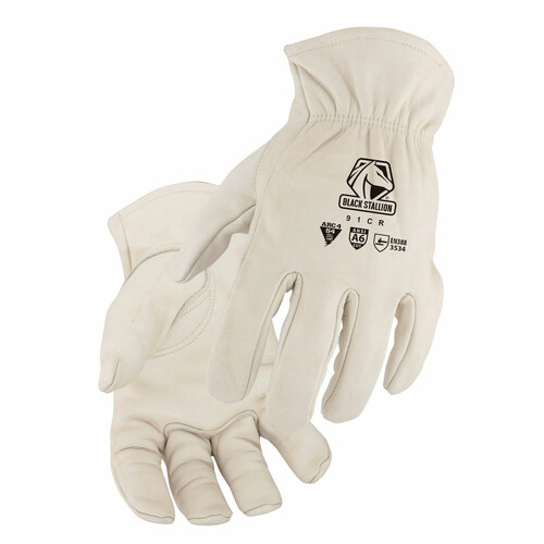 Black Stallion A6 Cut Resistant Grain Cowhide Drivers Glove - 91CR