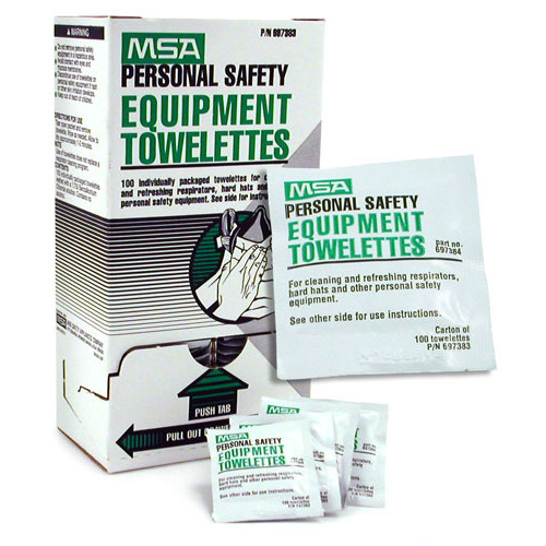 MSA Personal Safety Equipment Towelettes