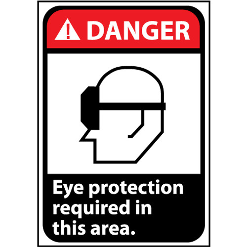 Eye Protection Required 10x7 Sign