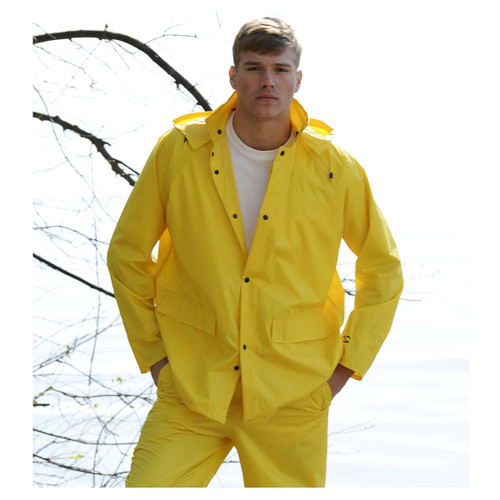 Custom Leather Craft 3 Piece Yellow Polyester Rain Suit R102