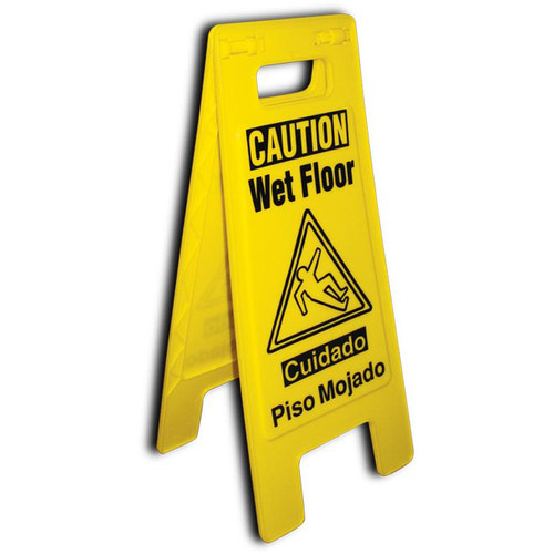 No Entry Restroom Closed English Only 10.75x24.625, Heavy Duty Floor Sign