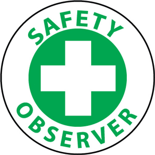 "25 per Pack Safety Observer, 2"", Pressure Sensitive Vinyl Hard Hat Emblem"