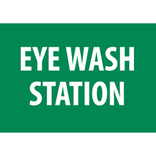 Eye Wash Station, 7x10, Rigid Plastic Sign