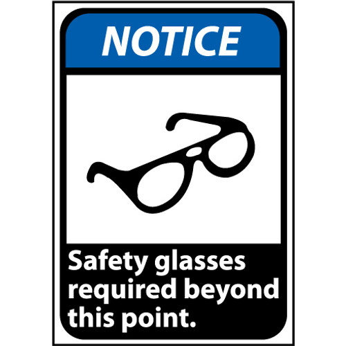 Safety Glasses Required 14x10 Sign