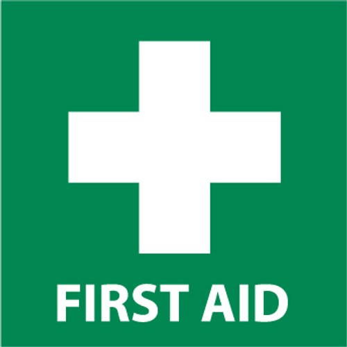 First Aid Graphic, 7x7 Vinyl Sign