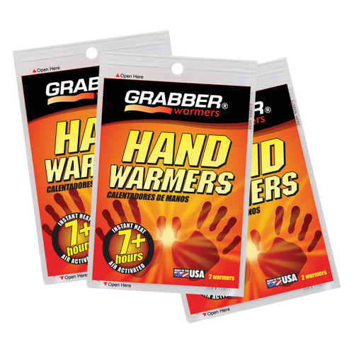 Grabber Mini Pocket Hand Warmers - 3 Pair/Pack
