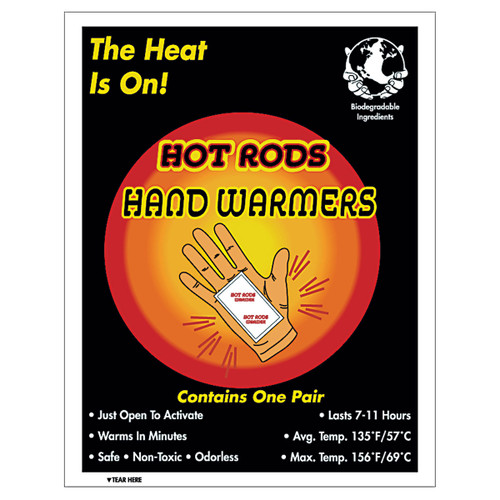 HOT RODS Hand Warmers - Pack of 5 Pairs