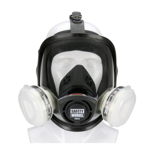 Safety Works Full Facepiece Paint & Pesticide Respirator