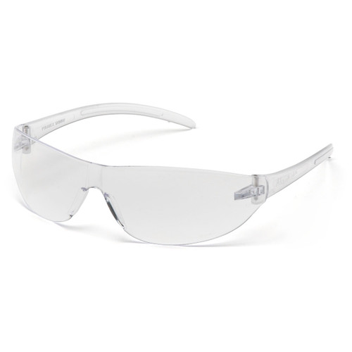 Pyramex Alair Clear Frame Safety Glasses w/ Clear Anti-Fog Lens