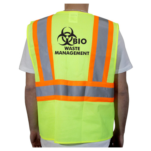 Customized Rugged Blue Class 2 Two-Tone High-Vis Mesh Safety Vest