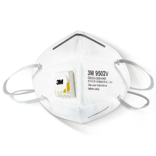 3M KN95 Protective Particulate Respirator Face Mask with Valve: 9502V