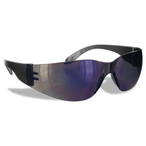 Rugged Blue Diablo Safety Glasses Blue Mirror - Case of 12