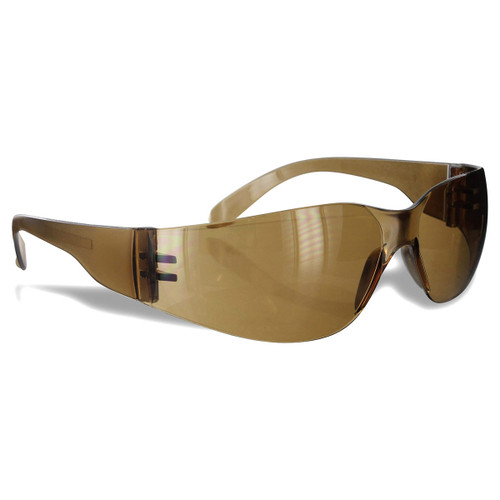 Rugged Blue Diablo Safety Glasses Brown/Dark Amber - Case of 12
