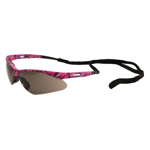 ERB Safety Annie Pink Camo Safety Glasses - Gray Lens