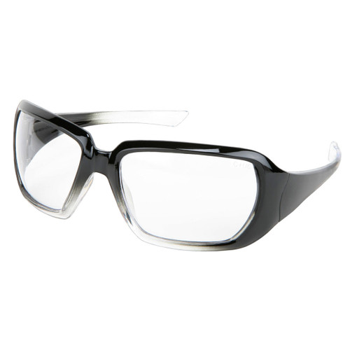 MCR Safety Crews 2 Women's Black/Clear Frame Safety Glasses - Clear Lens
