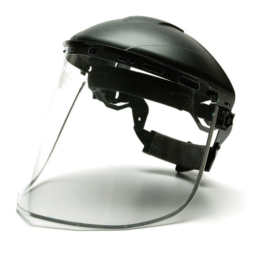 Pyramex Aluminum Bound Polycarbonate Face Shield w/ UV Protection - S1040