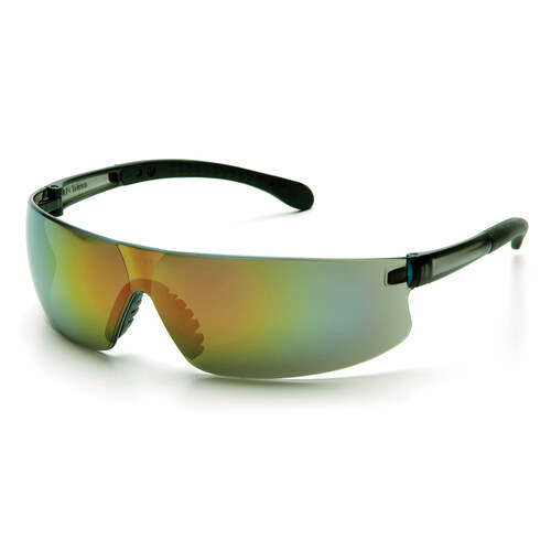 Pyramex Safety Provoq Safety Glasses - Gray Temples/Multi-Color Mirror Lens