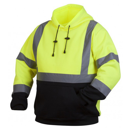 Pyramex Lumen-X Class 2 High-Vis Pullover Black Bottom Sweatshirt - RSSH32
