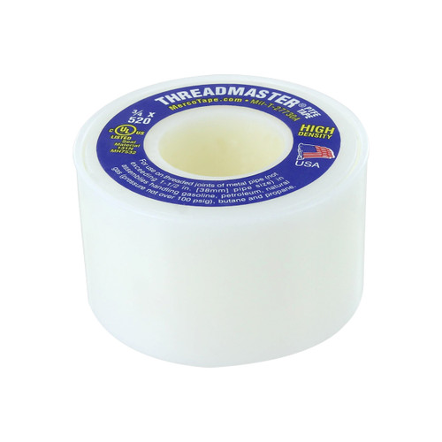 Rugged Blue M 66 Threadmaster Threadseal Tape 3/4in x 520in Yellow