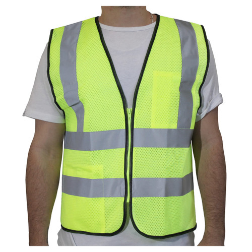 Rugged Blue Class 2 Horizontal Striped Mesh Safety Vest