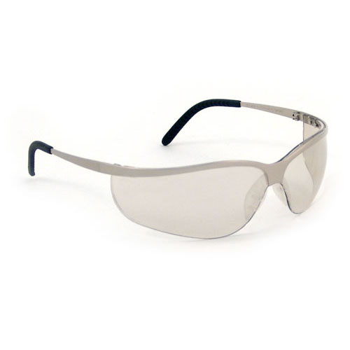 AOSafety Metaliks Sport Safety Glasses with Indoor/Outdoor Mirror Lens