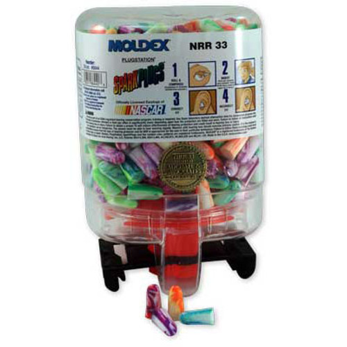 Moldex PlugStation SparkPlugs Ear Plugs - 250 Pair Dispenser
