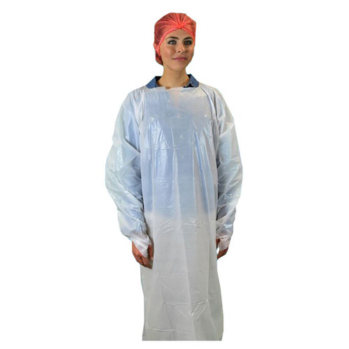 """25 Pack One-size 55"""" Long CPE Isolation Gown"""