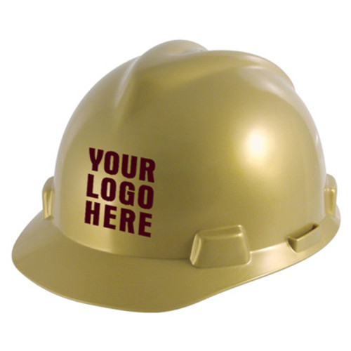 Custom MSA V-Gard StazOn Slotted Hard Hat