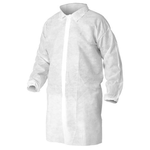 Case of 30 Protective Polypropylene Lab Coats- One Size