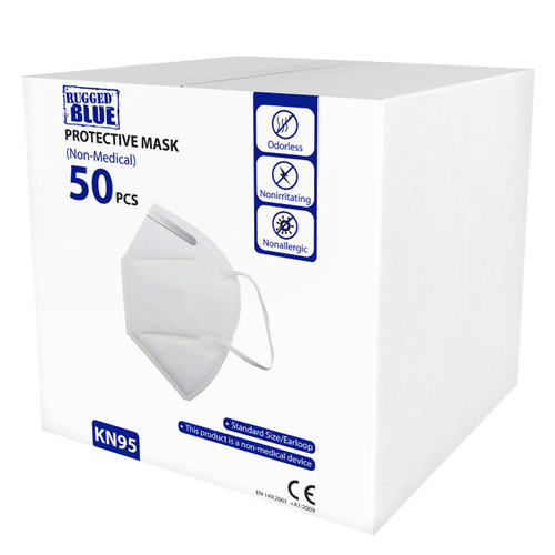 KN95 Protective Face Mask - With Elastic Ear Loops - Pack of 50