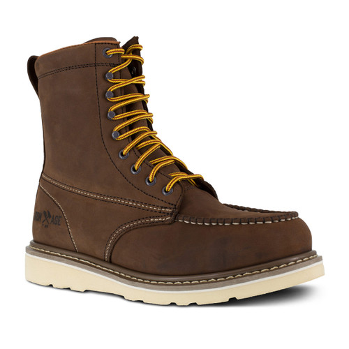 "Iron Age Reinforcer Men's Brown 8"" Wedge Work Boot"