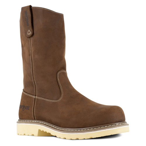 """Iron Age Solidifier Men's Brown 11"""" Pull-On Workboot"""