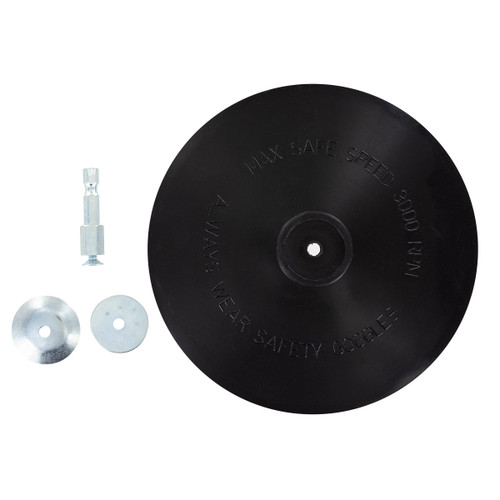 """Eazypower 6"""" Black Rubber Back-Up Pad for Drills"""