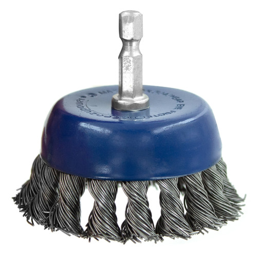 """Eazypower3"""" Knotted Cup Wire Brushes with 1/4"""" Shank"""