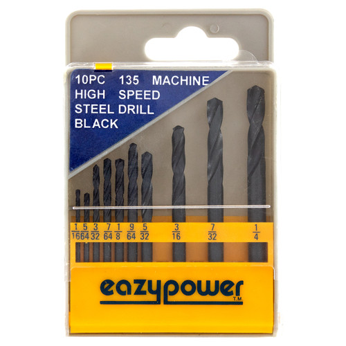 10 Piece M2 118 Degree Steel Jobber Drill Bit Kit