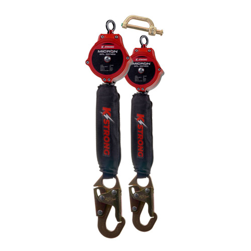 K-Strong Dual 6ft Micron SRL Assembly w/Snap hooks and Connector