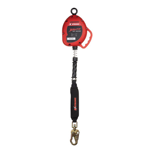K-Strong BRUTE 25ft. Cable SRL-LE w/Snap hook, Carabiner, and Tagline