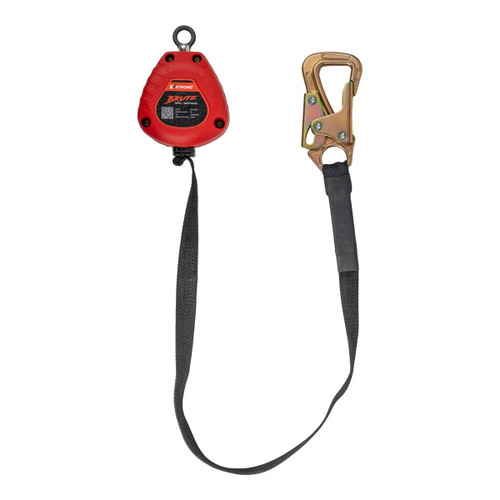 K-Strong BRUTE Dual 8ft. Tie-Back SRL Assembly with Connectors and Carabiner