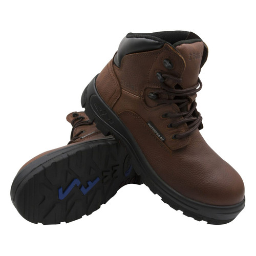 Genuine Grip Men's S Fellas Brown Poseidon Composite Toe WP Work Boots