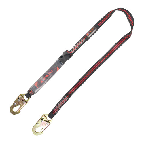 K-Strong 6ft. Single Tie-off with Shock Absorbing Lanyard