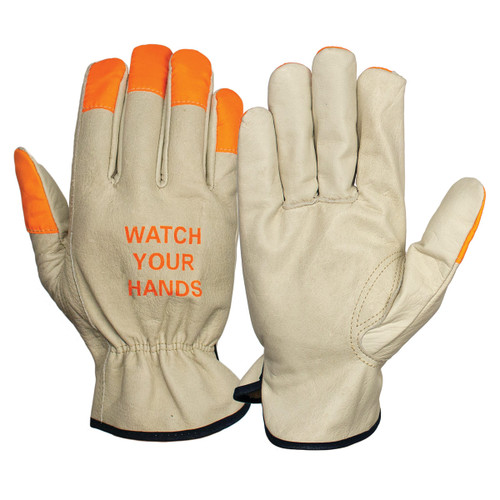 Pyramex GL2003K Cowhide Leather Drivers Gloves - Single Pair