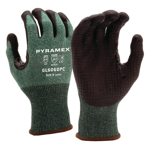 Pyramex Safety Micro-Foam Nitrile Gloves with Dotted Palms - Single Pair