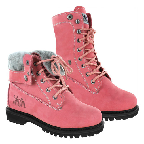 Safety Girl Madison Fold-Down Work Boot - Pink