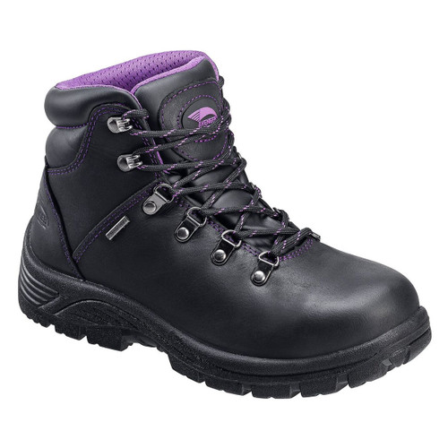 Avenger Women's Black/Purple Steel Toe Waterproof Hiker - A7124