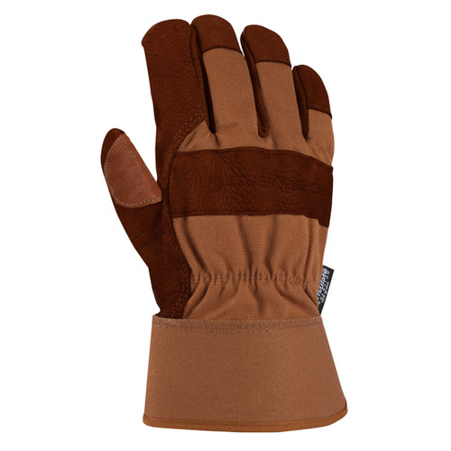 Carhartt A513B Insulated Bison Leather Palm Work Gloves - Single Pair