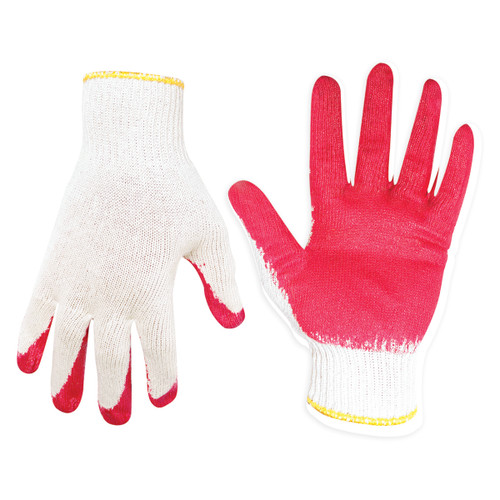 Commercial Grade String Knit Gripper Gloves - Pack of 12 Pairs